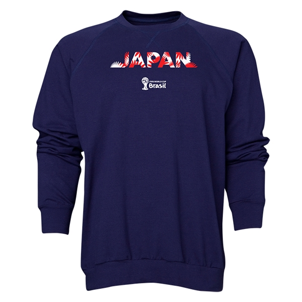 Japan 2014 FIFA World Cup Brazil(TM) Men's Palm Crewneck Sweatshirt (Navy)