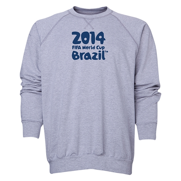 2014 FIFA World Cup Brazil(TM) Men's Official Logotype Crewneck Sweatshirt (Grey)
