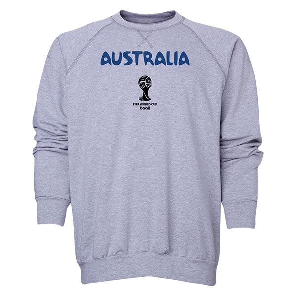 Australia 2014 FIFA World Cup Brazil(TM) Men's Core Crewneck Sweatshirt (Grey)