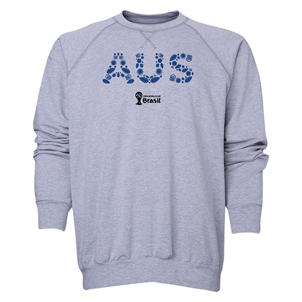 Australia 2014 FIFA World Cup Brazil(TM) Men's Elements Crewneck Sweatshirt (Grey)