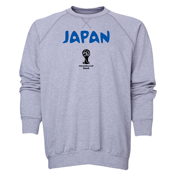 Japan 2014 FIFA World Cup Brazil(TM) Men's Core Crewneck Sweatshirt (Grey)