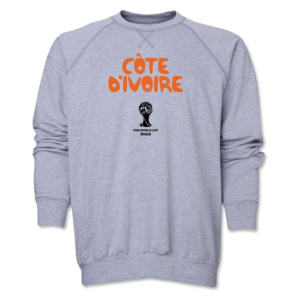 Cote d'Ivoire 2014 FIFA World Cup Brazil(TM) Core Crewneck Fleece (Grey)
