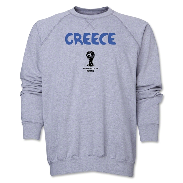 Greece 2014 FIFA World Cup Brazil(TM) Core Crewneck Fleece (Grey)