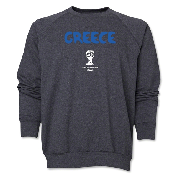 Greece 2014 FIFA World Cup Brazil(TM) Core Crewneck Fleece (Dark Grey)