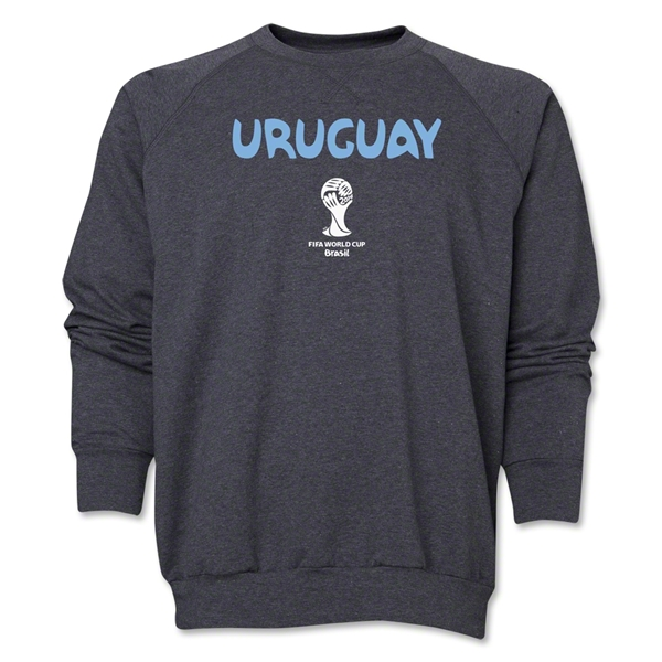 Uruguay 2014 FIFA World Cup Brazil(TM) Core Crewneck Fleece (Dark Grey)