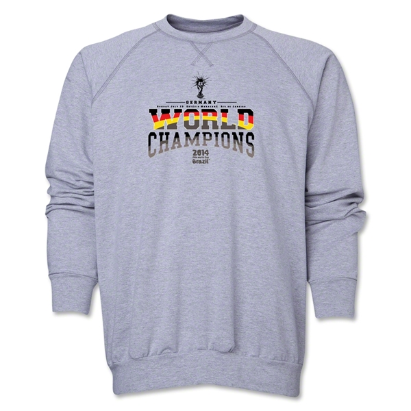 Germany 2014 FIFA World Cup Brazil(TM) World Champions Crewneck Fleece (Grey)