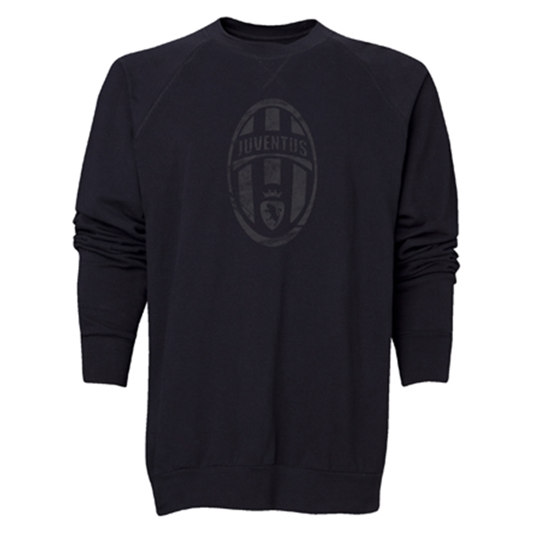 Juventus Distressed Logo Crewneck Fleece (Black)