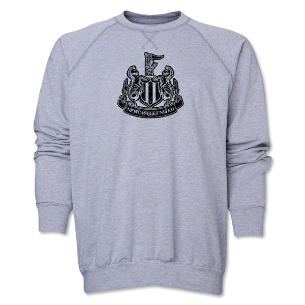 Newcastle United Distressed Crewneck Fleece (Gray)