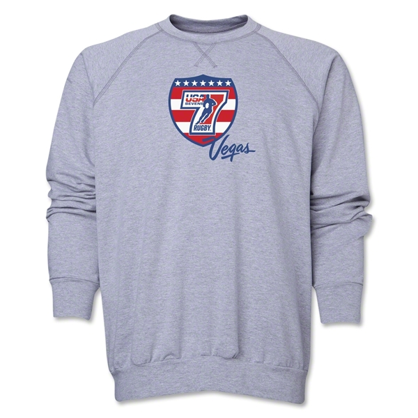 USA Sevens Vegas Rugby Crewneck Fleece (Gray)