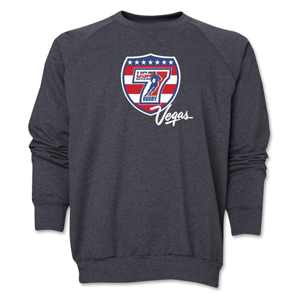 USA Sevens Vegas Rugby Crewneck Fleece (Dark Gray)