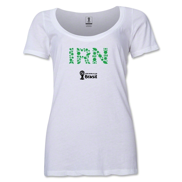 Iran 2014 FIFA World Cup Brazil(TM) Women's Elements Scoopneck T-Shirt (White)