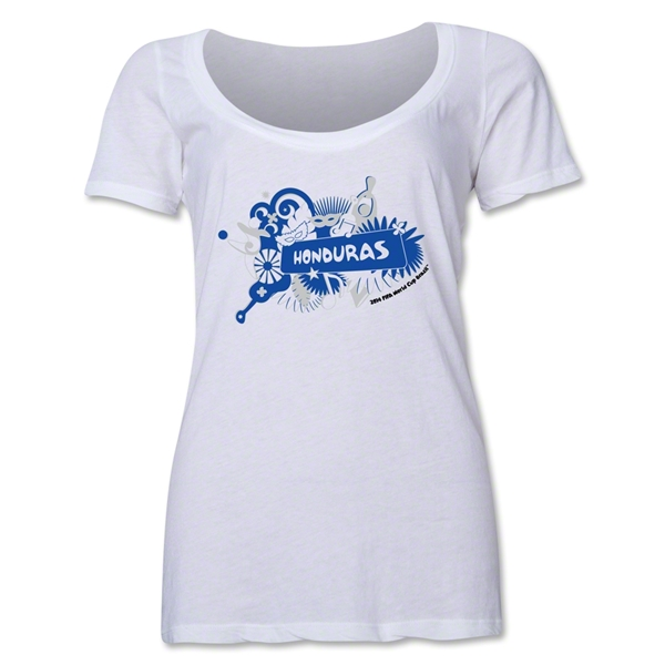 Honduras 2014 FIFA World Cup Brazil(TM) Women's Celebration Scoopneck T-Shirt (White)