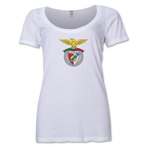 Benfica Women's Scoopneck T-Shirt (White)