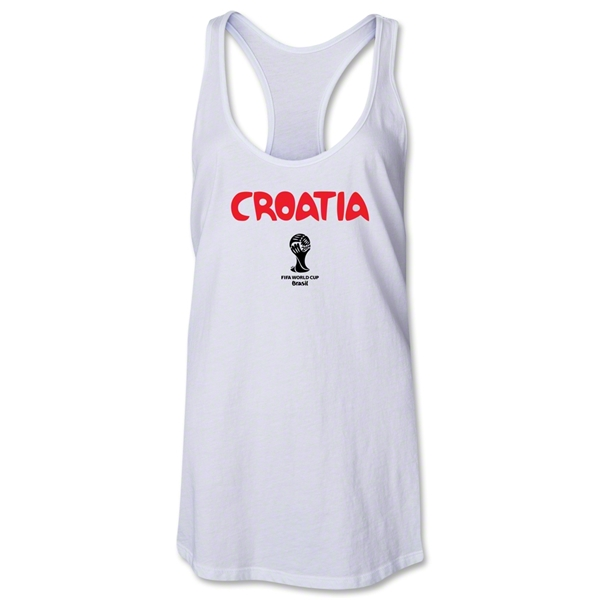 Croatia 2014 FIFA World Cup Brazil(TM) Core Women's Racerback Tank Top (White)