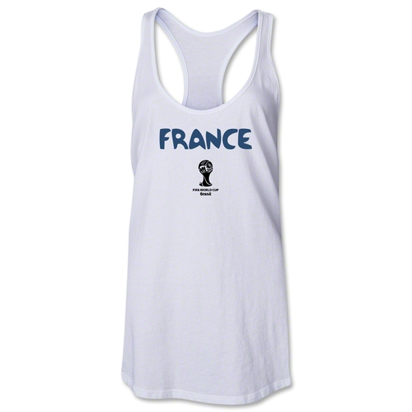 France 2014 FIFA World Cup Brazil(TM) Core Racerback Tank Top (White)