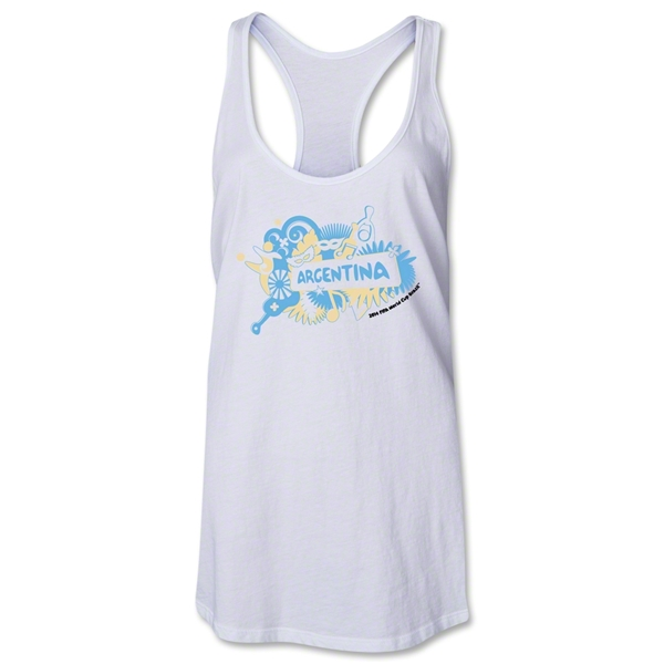 Argentina 2014 FIFA World Cup Brazil(TM) Celebration Racerback Tank Top (White)
