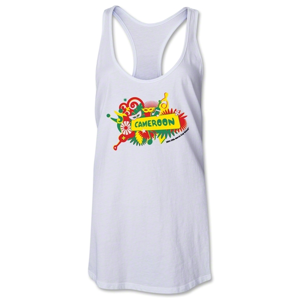 Cameroon 2014 FIFA World Cup Brazil(TM) Celebration Racerback Tank Top (White)