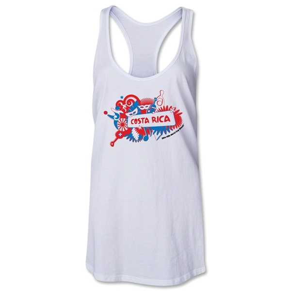 Costa Rica 2014 FIFA World Cup Brazil(TM) Celebration Racerback Tank Top (White)