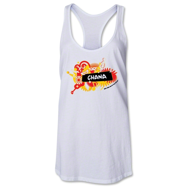 Ghana 2014 FIFA World Cup Brazil(TM) Celebration Racerback Tank Top (White)