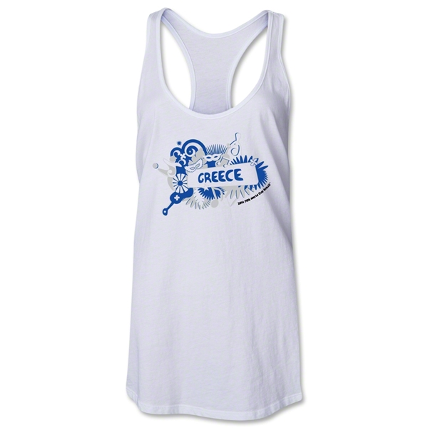 Greece 2014 FIFA World Cup Brazil(TM) Celebration Racerback Tank Top (White)