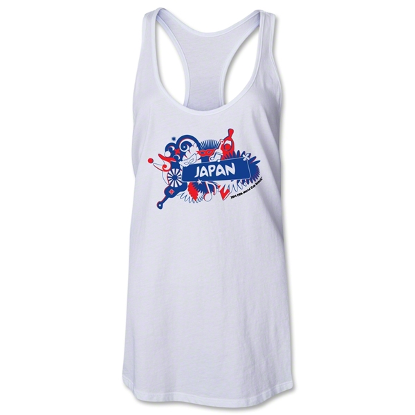Japan 2014 FIFA World Cup Brazil(TM) Celebration Racerback Tank Top (White)