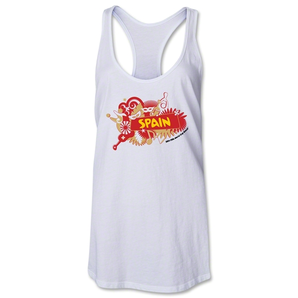 Spain 2014 FIFA World Cup Brazil(TM) Celebration Racerback Tank Top (White)