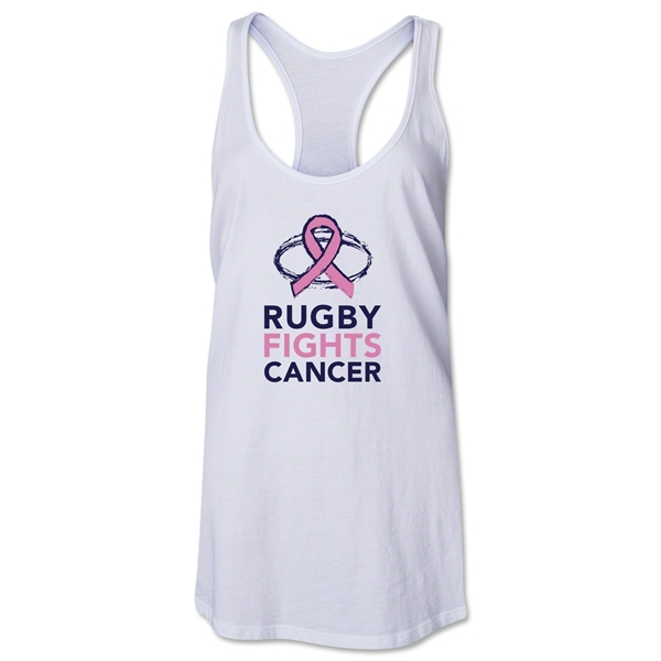 Rugby Fights Cancer Women's Racerback Tank (White)
