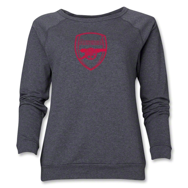 Arsenal Crest Women's Sweatshirt (Dark Gray)