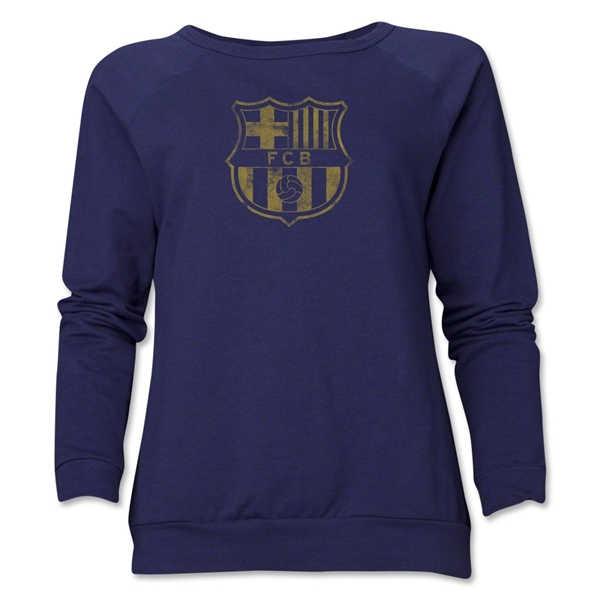 Barcelona Vintage Women's Crewneck Fleece (Navy)