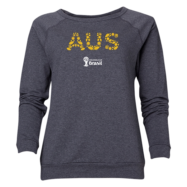 Australia 2014 FIFA World Cup Brazil(TM) Women's Elements Crewneck Sweatshirt (Dark Grey)