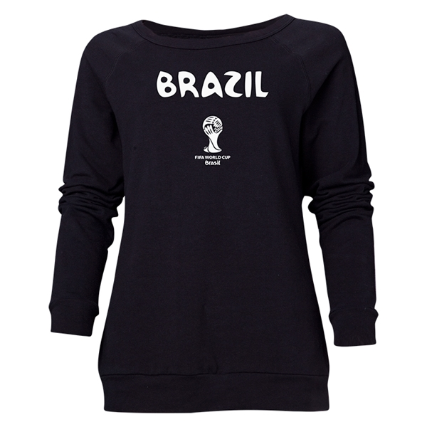 Brazil 2014 FIFA World Cup Brazil(TM) Women's Core Crewneck Sweatshirt (Black)