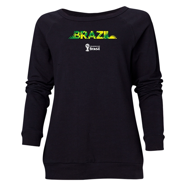 Brazil 2014 FIFA World Cup Brazil(TM) Women's Palm Crewneck Sweatshirt (Black)
