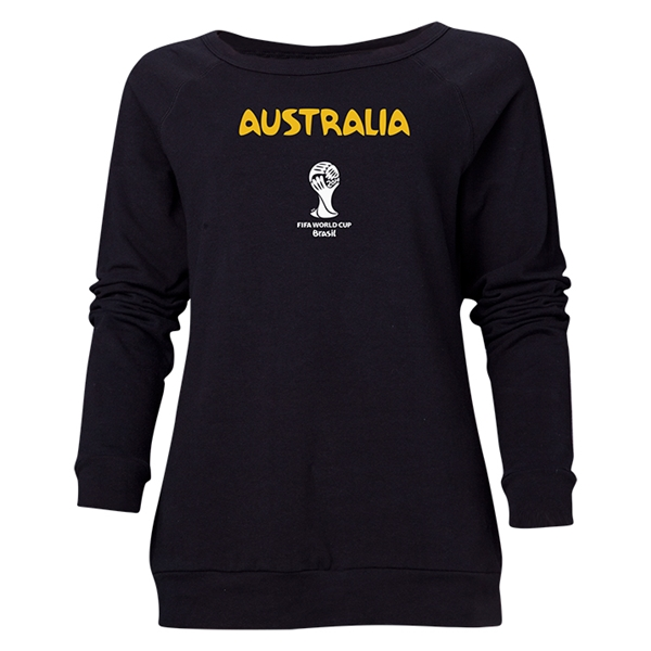 Australia 2014 FIFA World Cup Brazil(TM) Women's Core Crewneck Sweatshirt (Black)