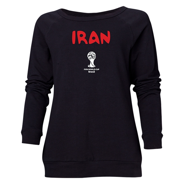 Iran 2014 FIFA World Cup Brazil(TM) Women's Core Crewneck Sweatshirt (Black)