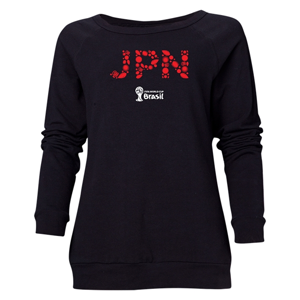Japan 2014 FIFA World Cup Brazil(TM) Women's Elements Crewneck Sweatshirt (Black)