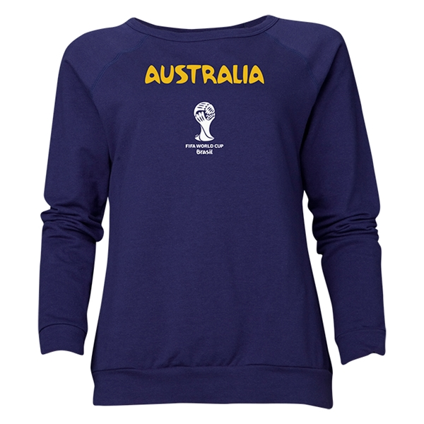 Australia 2014 FIFA World Cup Brazil(TM) Women's Core Crewneck Sweatshirt (Navy)