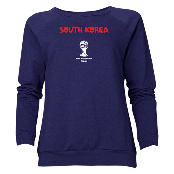 South Korea 2014 FIFA World Cup Brazil(TM) Women's Core Crewneck Sweatshirt (Navy)