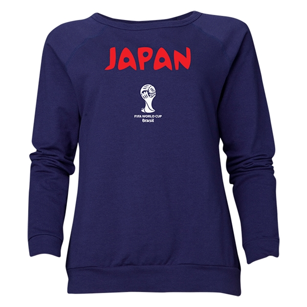 Japan 2014 FIFA World Cup Brazil(TM) Women's Core Crewneck Sweatshirt (Navy)