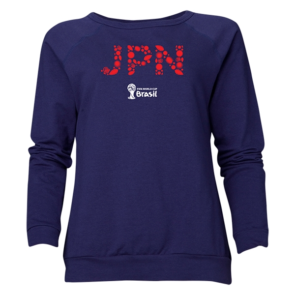 Japan 2014 FIFA World Cup Brazil(TM) Women's Elements Crewneck Sweatshirt (Navy)