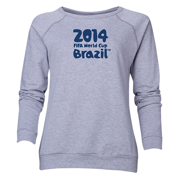 2014 FIFA World Cup Brazil(TM) Women's Official Logotype Crewneck Sweatshirt (Grey)