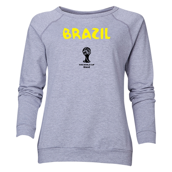 Brazil 2014 FIFA World Cup Brazil(TM) Women's Core Crewneck Sweatshirt (Grey)