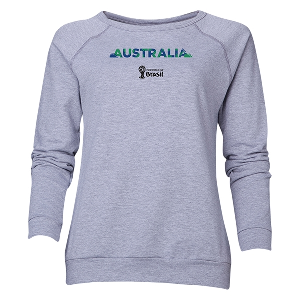 Australia 2014 FIFA World Cup Brazil(TM) Women's Palm Crewneck Sweatshirt (Grey)