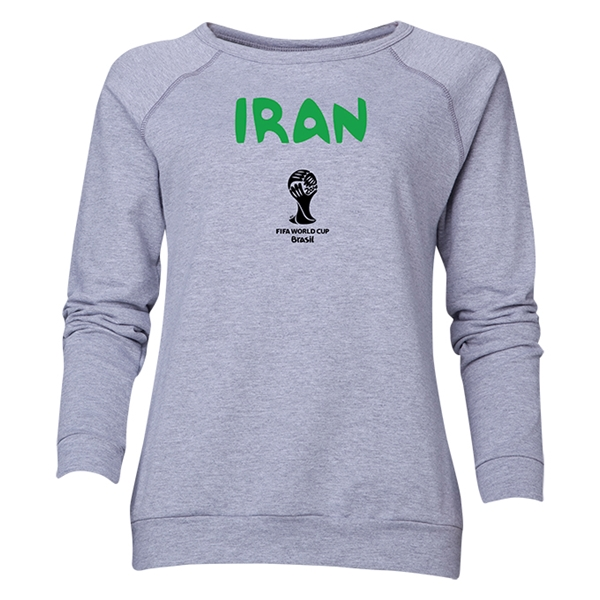 Iran 2014 FIFA World Cup Brazil(TM) Women's Core Crewneck Sweatshirt (Grey)