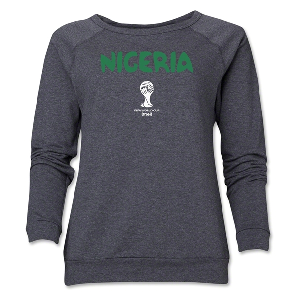 Nigeria 2014 FIFA World Cup Brazil(TM) Core Women's Crewneck Fleece (Dark Grey)