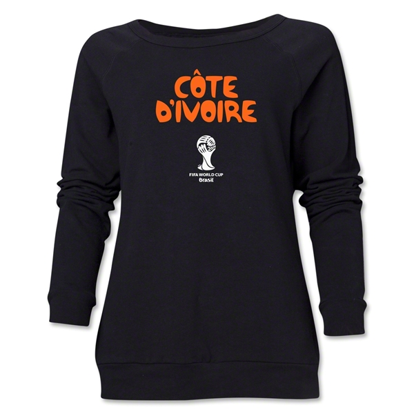 Cote d'Ivoire 2014 FIFA World Cup Brazil(TM) Core Women's Crewneck Fleece (Black)