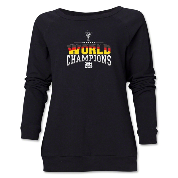Germany 2014 FIFA World Cup Brazil(TM) World Champions Women's Crewneck (Black)