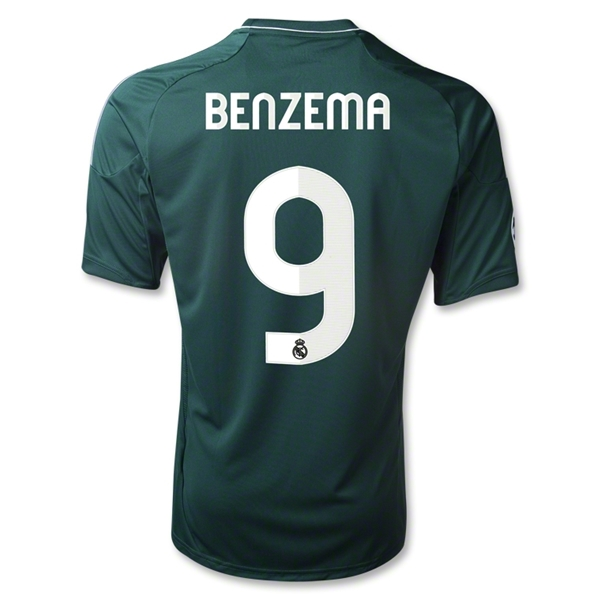 Real Madrid 12/13 BENZEMA Third Soccer Jersey