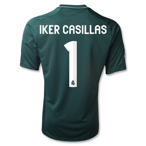 Real Madrid 12/13 IKER CASILLAS Third Soccer Jersey