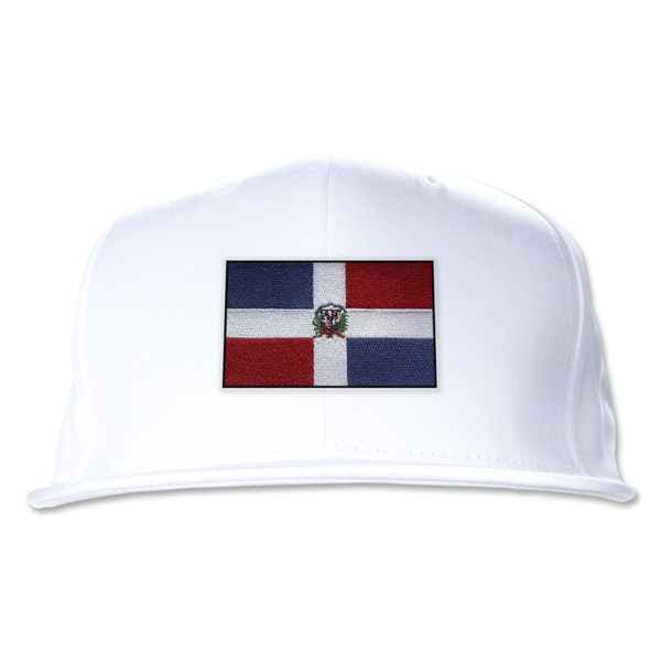 Dominican Republic Flatbill Cap (White)