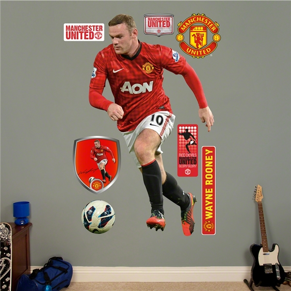 Manchester United Rooney Wall Fathead